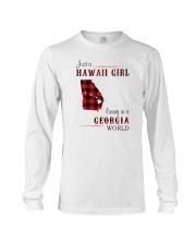 HAWAII GIRL LIVING IN GEORGIA WORLD Long Sleeve Tee thumbnail