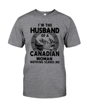 I'M THE HUSBAND OF A CANADIAN WOMAN Classic T-Shirt front