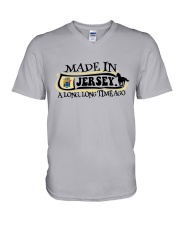 MADE IN JERSEY A LONG LONG TIME AGO V-Neck T-Shirt thumbnail