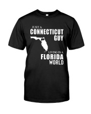 JUST A CONNECTICUT GUY LIVING IN FLORIDA WORLD Classic T-Shirt tile