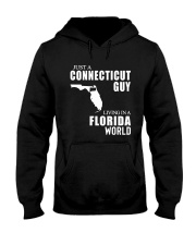 JUST A CONNECTICUT GUY LIVING IN FLORIDA WORLD Hooded Sweatshirt thumbnail