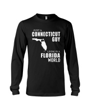 JUST A CONNECTICUT GUY LIVING IN FLORIDA WORLD Long Sleeve Tee thumbnail