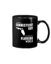 JUST A CONNECTICUT GUY LIVING IN FLORIDA WORLD Mug thumbnail