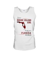 RHODE ISLAND GIRL LIVING IN FLORIDA WORLD Unisex Tank thumbnail