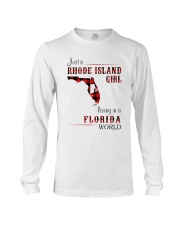 RHODE ISLAND GIRL LIVING IN FLORIDA WORLD Long Sleeve Tee thumbnail
