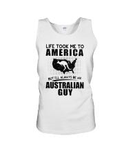 AUSTRALIAN GUY LIFE TOOK TO AMERICA Unisex Tank thumbnail