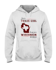 TEXAS GIRL LIVING IN WISCONSIN WORLD Hooded Sweatshirt thumbnail