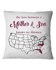 NORTH CAROLINA FLORIDA THE LOVE MOTHER AND SON  Square Pillowcase thumbnail