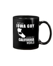 JUST AN IOWA GUY LIVING IN CALIFORNIA WORLD Mug thumbnail