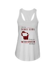 IOWA GIRL LIVING IN WISCONSIN WORLD Ladies Flowy Tank thumbnail