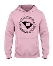 OREGON GIRL LIVING IN SOUTH CAROLINA WORLD Hooded Sweatshirt thumbnail