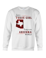 TEXAS GIRL LIVING IN ARIZONA WORLD Crewneck Sweatshirt thumbnail