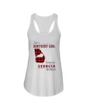 KENTUCKY GIRL LIVING IN GEORGIA WORLD Ladies Flowy Tank thumbnail