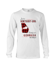 KENTUCKY GIRL LIVING IN GEORGIA WORLD Long Sleeve Tee thumbnail
