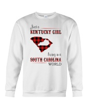 KENTUCKY GIRL LIVING IN SOUTH CAROLINA WORLD Crewneck Sweatshirt thumbnail