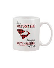 KENTUCKY GIRL LIVING IN SOUTH CAROLINA WORLD Mug tile