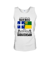 LIVE IN QUEBEC BEGAN IN SASKATCHEWAN ROOT WOMEN Unisex Tank thumbnail