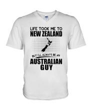 AUSTRALIAN GUY LIFE TOOK TO NEW ZEALAND V-Neck T-Shirt thumbnail