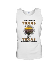 TEXAS WILL ALWAYS LIVE IN ME Unisex Tank thumbnail