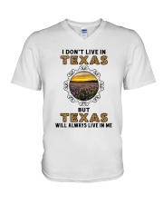 TEXAS WILL ALWAYS LIVE IN ME V-Neck T-Shirt thumbnail