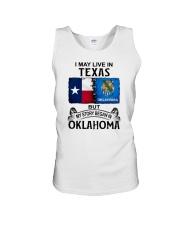 LIVE IN TEXAS BEGAN IN OKLAHOMA Unisex Tank thumbnail