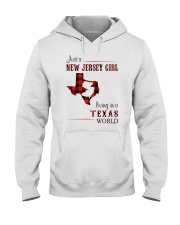 JERSEY GIRL LIVING IN TEXAS WORLD Hooded Sweatshirt thumbnail