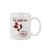 JERSEY GIRL LIVING IN TEXAS WORLD Mug thumbnail