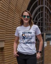 I'M A CHICAGO GIRL WE JUST TALK LOUD Ladies T-Shirt lifestyle-women-crewneck-front-2