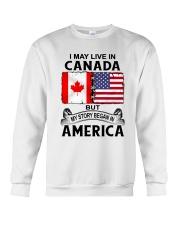 LIVE IN CANADA BEGAN IN AMERICA ROOT WOMEN Crewneck Sweatshirt thumbnail