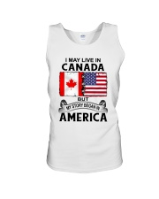 LIVE IN CANADA BEGAN IN AMERICA ROOT WOMEN Unisex Tank thumbnail