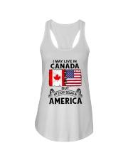LIVE IN CANADA BEGAN IN AMERICA ROOT WOMEN Ladies Flowy Tank thumbnail