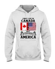 LIVE IN CANADA BEGAN IN AMERICA ROOT WOMEN Hooded Sweatshirt thumbnail