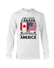 LIVE IN CANADA BEGAN IN AMERICA ROOT WOMEN Long Sleeve Tee thumbnail