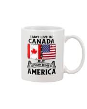 LIVE IN CANADA BEGAN IN AMERICA ROOT WOMEN Mug thumbnail