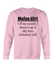 MAINE IF MY MOUTH DOESN'T SAY IT Crewneck Sweatshirt thumbnail