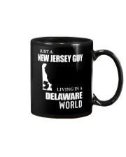 JUST A JERSEY GUY LIVING IN DELAWARE WORLD Mug thumbnail