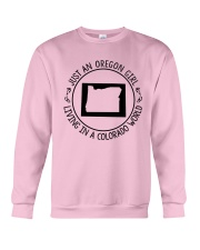 OREGON GIRL LIVING IN COLORADO WORLD Crewneck Sweatshirt thumbnail