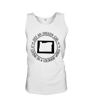 OREGON GIRL LIVING IN COLORADO WORLD Unisex Tank thumbnail
