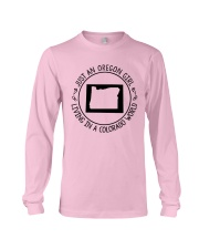 OREGON GIRL LIVING IN COLORADO WORLD Long Sleeve Tee thumbnail