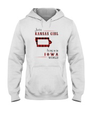 KANSAS GIRL LIVING IN IOWA WORLD Hooded Sweatshirt thumbnail