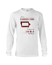 KANSAS GIRL LIVING IN IOWA WORLD Long Sleeve Tee thumbnail