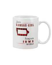 KANSAS GIRL LIVING IN IOWA WORLD Mug thumbnail