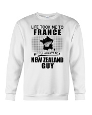 NEW ZEALAND GUY LIFE TOOK TO FRANCE Crewneck Sweatshirt thumbnail
