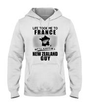 NEW ZEALAND GUY LIFE TOOK TO FRANCE Hooded Sweatshirt thumbnail