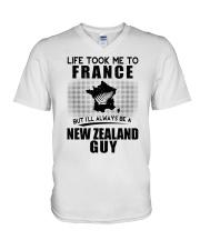 NEW ZEALAND GUY LIFE TOOK TO FRANCE V-Neck T-Shirt thumbnail