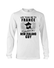 NEW ZEALAND GUY LIFE TOOK TO FRANCE Long Sleeve Tee thumbnail