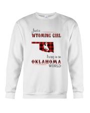 WYOMING GIRL LIVING IN OKALHOMA WORLD Crewneck Sweatshirt thumbnail