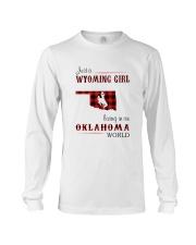 WYOMING GIRL LIVING IN OKALHOMA WORLD Long Sleeve Tee thumbnail