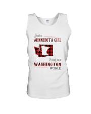 MINNESOTA GIRL LIVING IN WASHINGTON WORLD Unisex Tank thumbnail