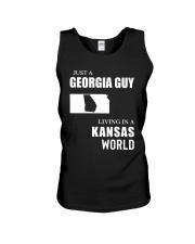 JUST A GEORGIA GUY LIVING IN KANSAS WORLD Unisex Tank thumbnail